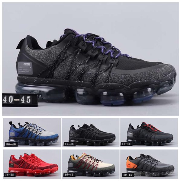 2019 Run Utility Men Running Shoes Best Quality Black Olive Anthracite White Reflect Silver Discount Shoes Men Women Sport Sneakers US 5-11