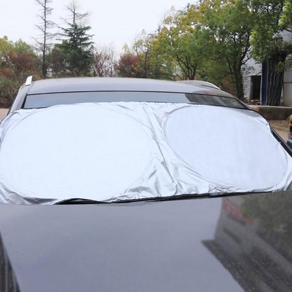 1Set SUV Truck anteriore dell'automobile del parasole del parabrezza La finestra sul cortile di Sun Visor Protezione UV Curtain