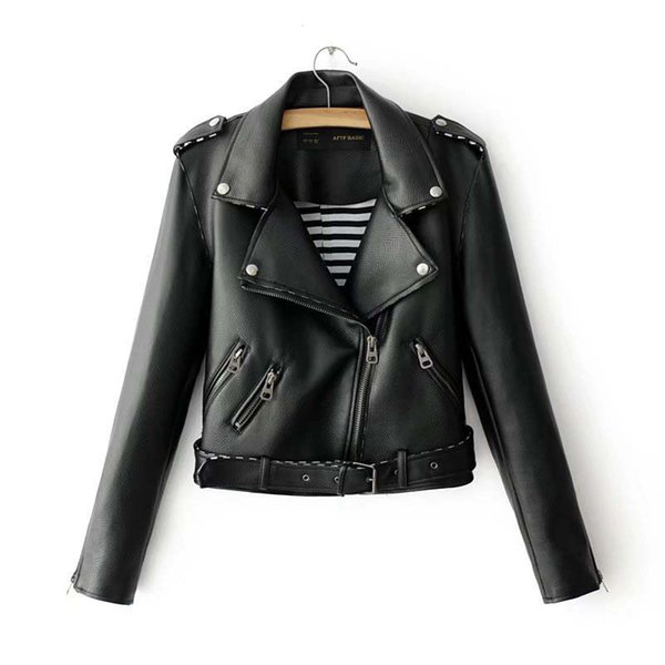PU Faux Leather Jacket Women New High Quality Basic Jackets Short Washed Street Zipper Autumn Winter Jacket Female Coat