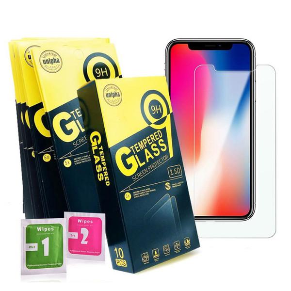 Für iphone xr xs x xs max iphone 6 6 plus 7 7 plus 8 8 plus 5 gehärtetes glas handy displayschutzfolie für samsung m40 m10 m20 m50 a10 a20 a30