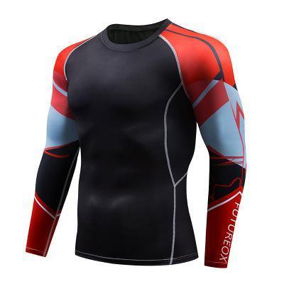 Nouveau Spiderman 3D Imprimé Marque De Compression T-Shirt Serré T Shirt Hommes Fitness Crossfit Tees À Manches Longues Bodybuilding Tshirt Tops