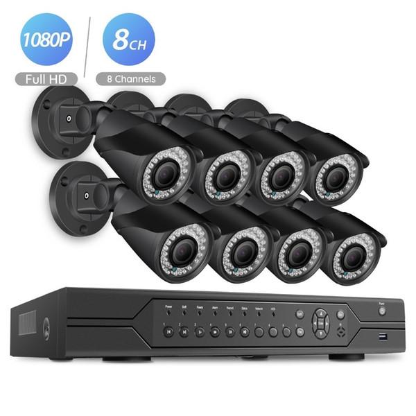 BESDER POE 8CH NVR 1080 P HDMI Sistema de CFTV Gravador de Vídeo 8 PCS Home Security À Prova D 'Água Night Vision Kits de Câmera de Vigilância