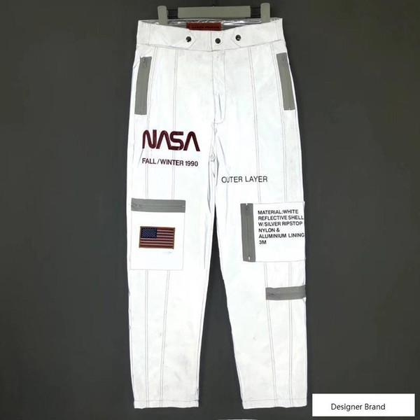 18FW HERON PRESTON 3M Riflettenti NASA TECH PANTALONI Pantaloni sportivi Tempo libero Sport Moda Uomo Donna Pantaloni Pantaloni alti Street HFLSKZ102