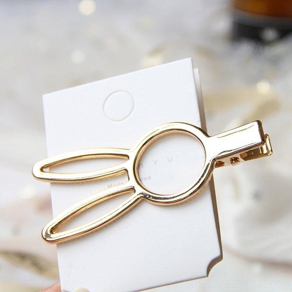 8cm-golden rabbit smooth Press clip