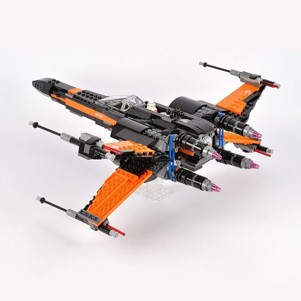top popular In Stock 05004 Series X-Wing Starfighter Model Building Block Bricks Compatible with Bela 75102 81006 10466 2021