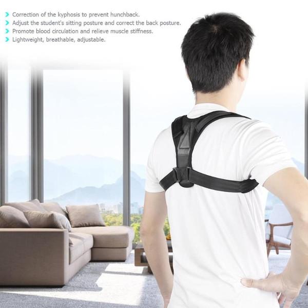 Homens Mulheres Parte Superior Da Cintura Ajustável Spine Corset Brace Postura Corrector Ombro de Volta Cinto de Suporte # 241684