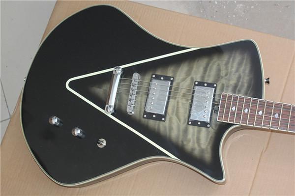 Arma 22 product self - locking string button electric guitar tiger pattern transparent black