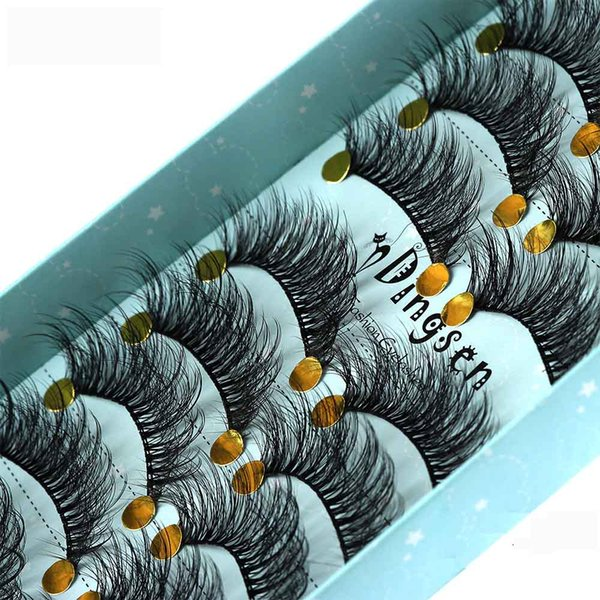 10 Pairs Faux Mink Lashes 3D Natural Makeup Fluffy Wispy False Eyelashes Extension Handmade Eye Lashes Full Strip Eyelash