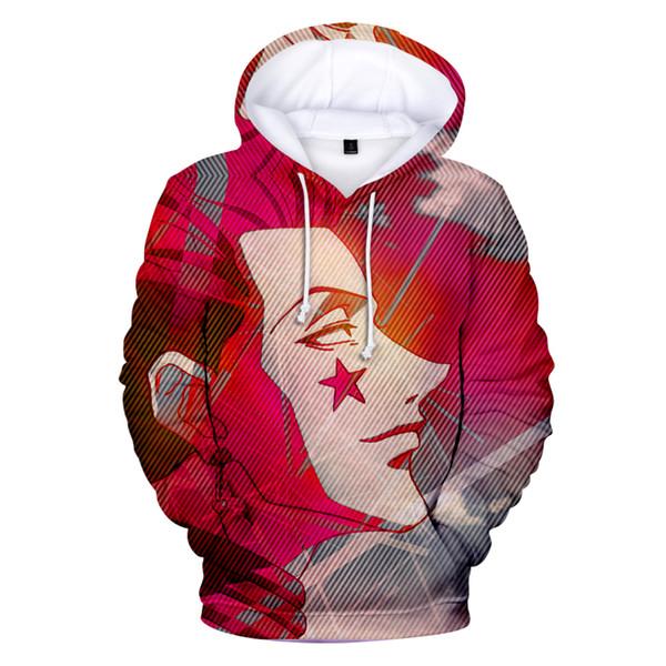 Fashion High Quality Coats 3D The Anime character Hisoka Hoodies Men's New 3D Hooded Hisoka Sweatshirt boys/girls Autumn Hoodies