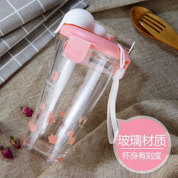 A2691 Small Fresh Bring Filter Cup Flower Receptacle Portable Concise Infusion Of Tea Glass Schoolgirl Originality Trend Cup