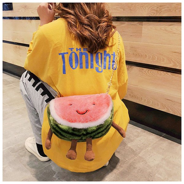 2019 New Style Women Crossbody Bags High Quality Chains Fashion Bags Lolita Style Plush Shoulder Bags