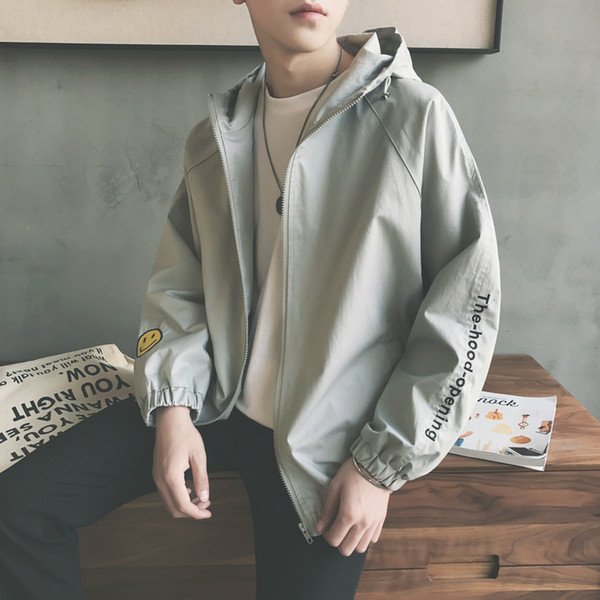 2019 New autumn hoodies men's Korean version of the trend handsome jacket spring and autumn Slim Harajuku style hooded sweater