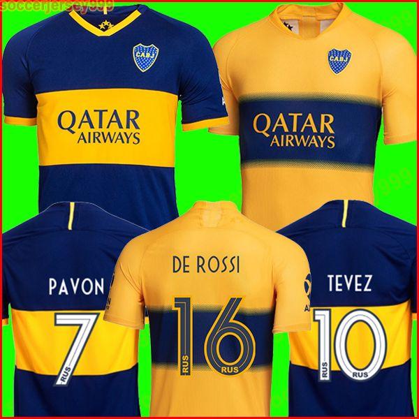 NEW 2019 2020 Boca Juniors soccer jersey Home Away 19 20 GAGO OSVALDO CARLITOS PEREZ DE ROSSI TEVEZ PAVON JRS sports football shirt uniforms