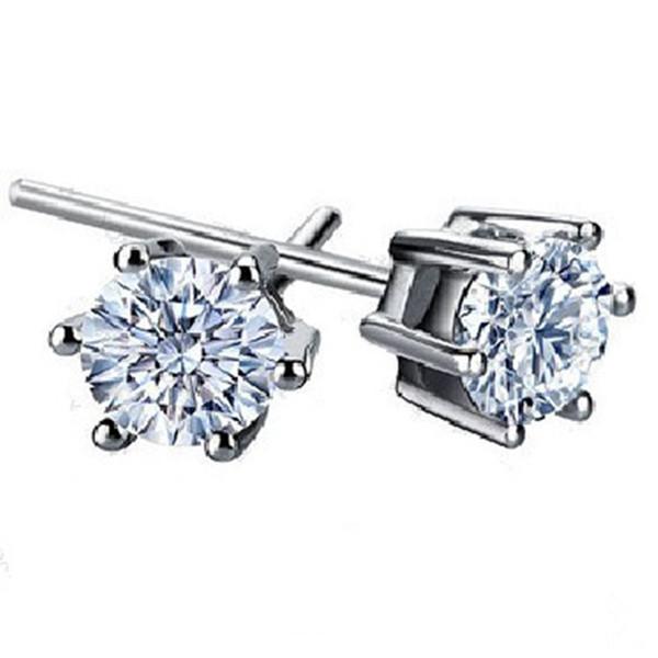 925 sterling silver Crown shape Zircon Earrings Korea Europe for Women Wedding jewelry Factory price sales Elegant Not fade Gift Earrings pl