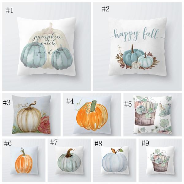 best selling pillowcase Halloween Christmas Thanksgiving Pumpkin Cushion Cover Polyester Farmhouse Decor Pillow Case Home Decor Sofa EEA368