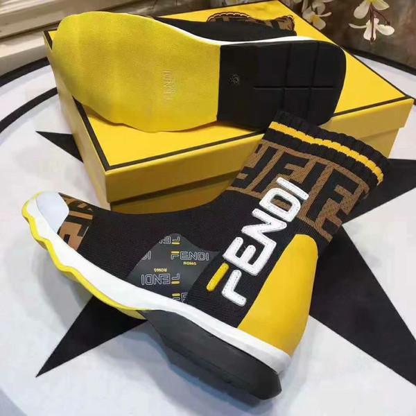 2019 luxus frauen socke stiefel geschwindigkeit trainer freizeitschuhe abendgesellschaft boot hohe stiefeletten flache arbeitsstiefel mit original box 35-45
