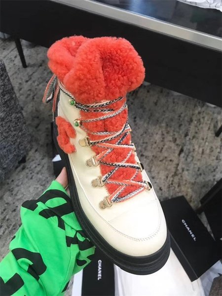 trendy design platform stitched color knitted stretch lace up martin boots socks ankle luxury women shoes size 35-40
