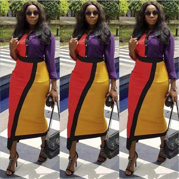 Femmes designer jupe à manches longues robe une pièce de haute qualité robe moulante sexy élégante luxe mode maxidress chaude klw0029