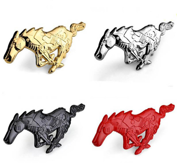 Auto Ford Mustang Car Metal Mechanical Running Horse Decal Front Grille Truck Hood Emblem Badge Car Accessorise