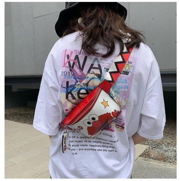 Luxus Gürteltasche Cute Cartoon Bag heißes Gepäck Modische Persönlichkeit Breiter Schultergurt Slant Brusttasche hohe Qualität Männer Frauen Crossbody