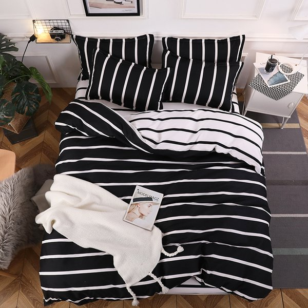 bedding set 3/4pcs bed linens Home Textile Duvet cover set classic bedclothes Modern sheet pillowcase king bedset