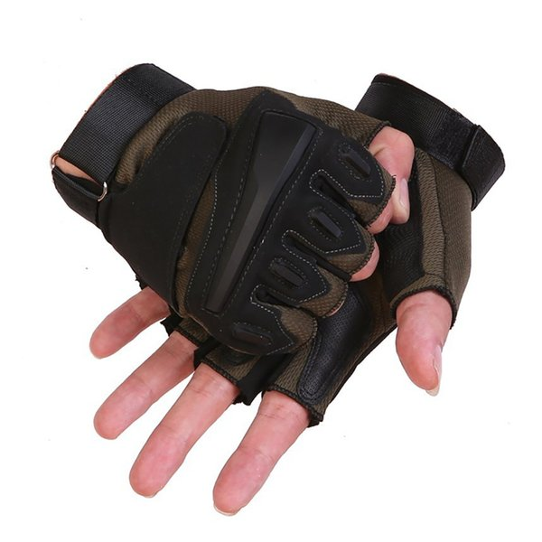 1pair tactical sports fitness weight lifting gym gloves training fitness bodybuilding workout wrist wrap exercise glove for men thumbnail