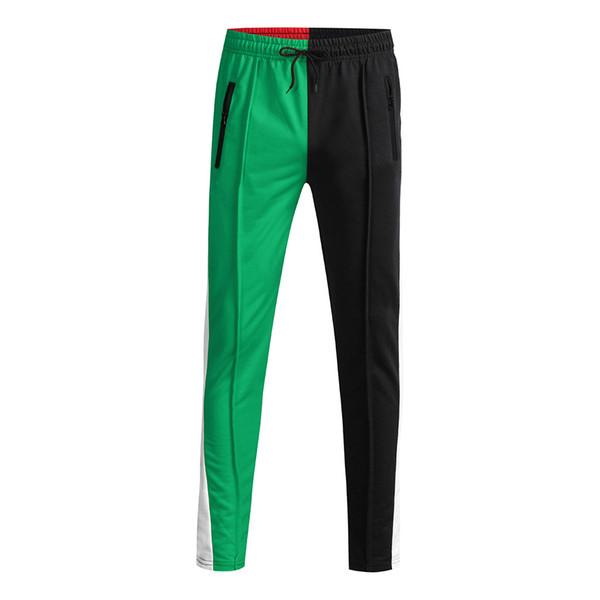 Clothing men's Patchwork Pants boys New Fashion Loose Style Men's Color Sweatpant Trousers Jogger Pant Pants