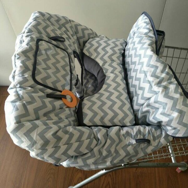 2-in-1 Cotton Shopping Cart Cover for Baby Toddler High Chair Cover with Cell Phone Carrier X-large with Seat Positioner
