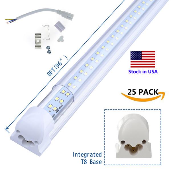 8 'T8 FA8 LED Röhren V Form 8ft integriertes LED Licht 8 ft Arbeitslicht 45W 72W 96' 'zweireihige fluoreszierende Leuchten