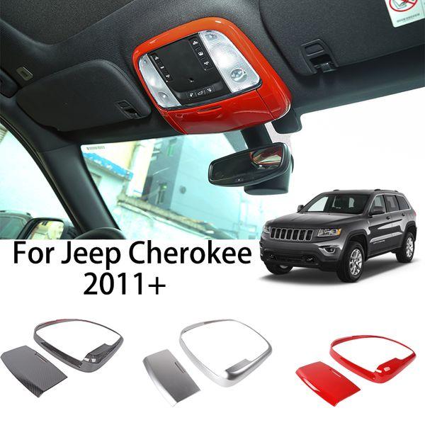 Copertura della lampada ABS anteriore dell'automobile della luce della lettura della cornice Decorazione Per Jeep Grand Cherokee 2011+ Auto Accessori Esterni