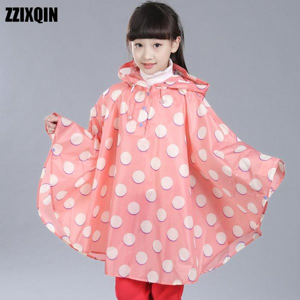 ZZIXQIN 2018 New Fashion Children's Cape Raincoat Waterproof Cute Student Light Star Poncho Boys Girl Drying Raincoat