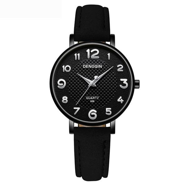 DENGQIN Reloj de pulsera de lujo para mujer de cristal de acero inoxidable Relojes  analógicos de 5dbd9404b40f