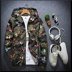 Alta Qualidade Mens Verão Camo Blusão Jaqueta Masculina Fina Camuflagem Blusão Casacos 2017 Primavera Com Capuz Blusão Da Borboleta 001