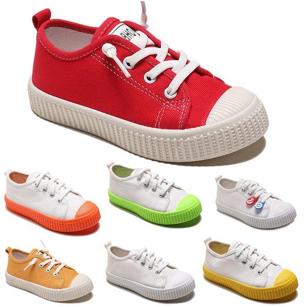Sigara Marka Tembel Çocuk Ayakkabı kanvas ayakkabılar erkek kız bebek Çocuk Slip moda rahat ayakkabılar 20-31 kırmızı beyaz 18 ücretsiz nakliye sneakers