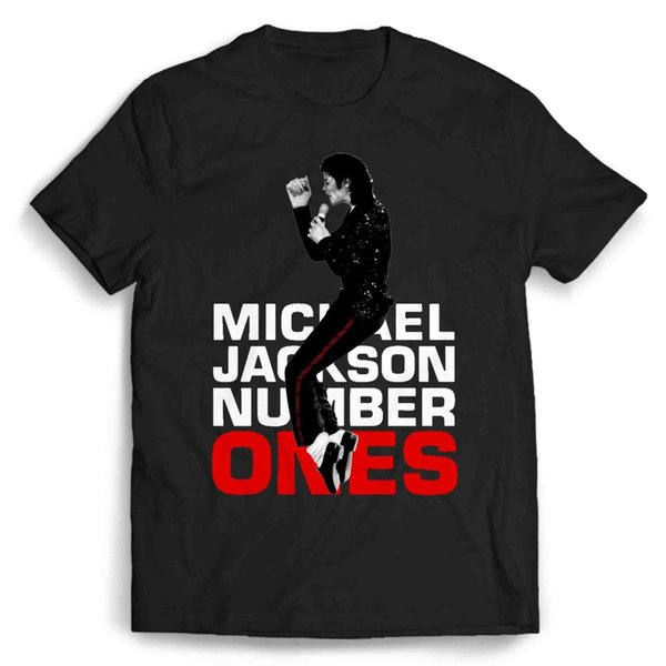Michael Jackson T-shirt Homme / Femme Number Ones Couleur T-shirt Imprimé Jersey T-shirt Imprimé Jersey