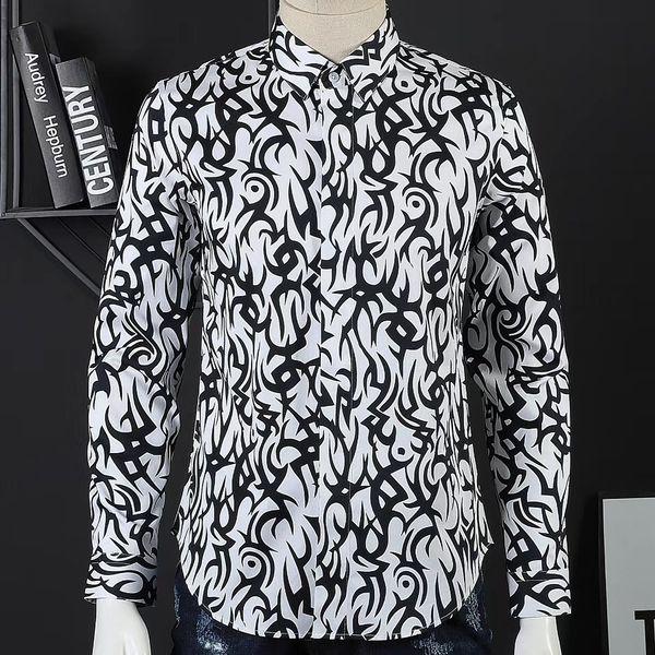 мужские рубашки бренда рубашка дизайнер рубашка Марка одежды 039 мужчин мужчин рубашки с длинным рукавом Hip Hop стиль высокого качества хлопок 2019 нового прибытие