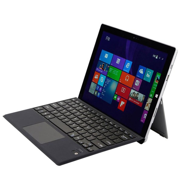 Type de clavier Surface Pro 6/5/4/3 léger avec clavier Bluetooth sans fil ultra-fin avec pavé tactile trackpad intégré, batterie rechargeable
