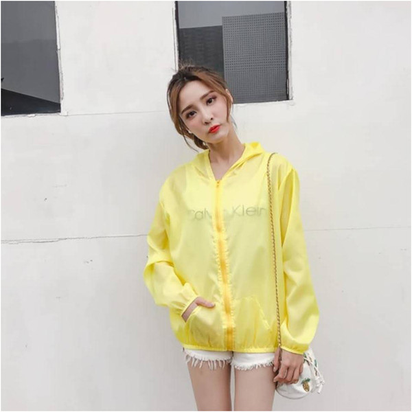 Womens Designer Sun Jacket Summer Slim Breathable Quick-drying Outdoor Sun Protection Clothing Solid Color Thin Clothing Hot Sale Womens clothing,2020 New Arrival, welcome to Wholesale, Size Free optional,7 style.we are factory, welcome to Wholesale and huge Discount for wholesaler.