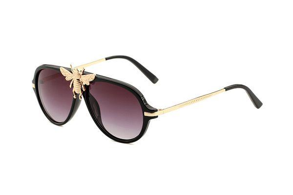 2019 más nuevos hombres clásicos gafas de sol de piloto mujeres abeja metal degradado de la lente gafas gafas de sol gafas de sol femeninas