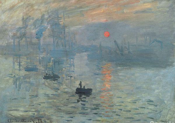 Impression Sunrise Claude Monet Art Silk Print Poster 24x36inch(60x90cm) 015