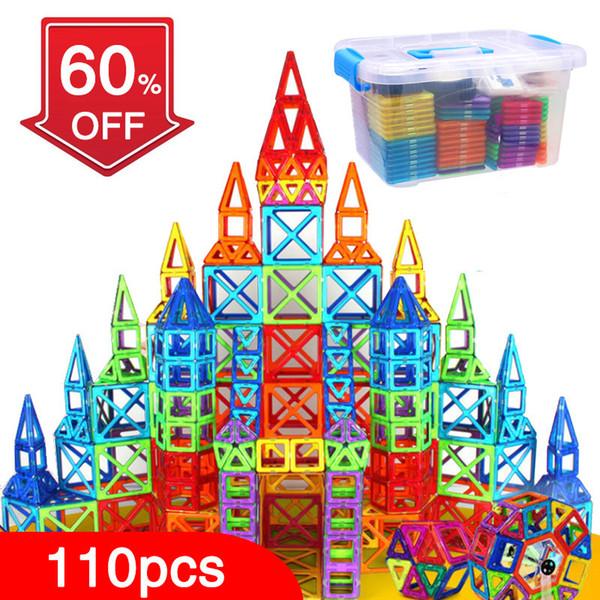 Bd 110pcs Blocks Magnetic Designer Building Construction Set Magnet Educational Toys For Children Kids Gift Q190530