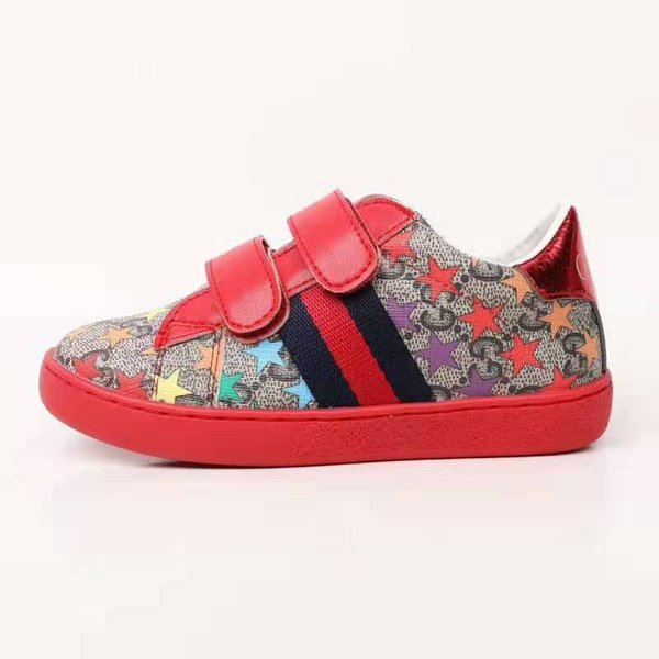 Baby girl shoes fashion designer red tennis sport sneakers for little girl toddlers child kids cheap platform kid sneaers Eu 26-35