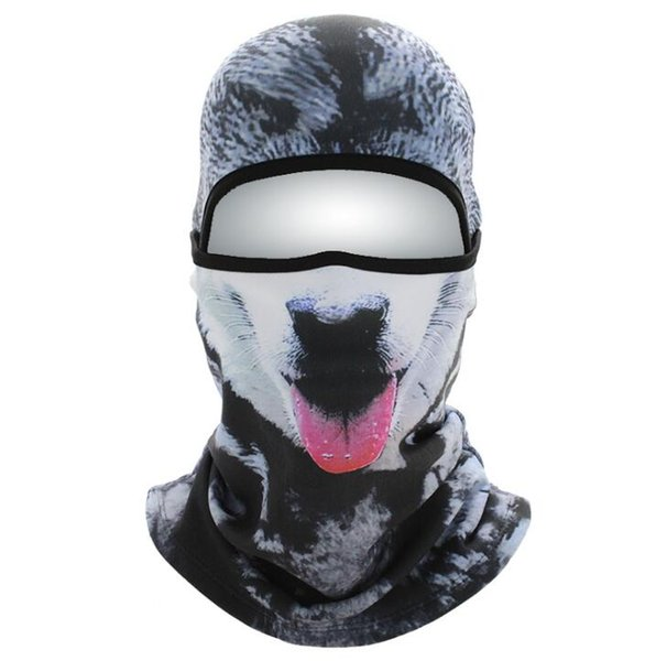 Aveludado quente 3D Cat Dog Crânio Animal Inverno Full Face Mask para Mulheres Homens Ao Ar Livre Da Bicicleta Da Bicicleta Snowboard Esporte