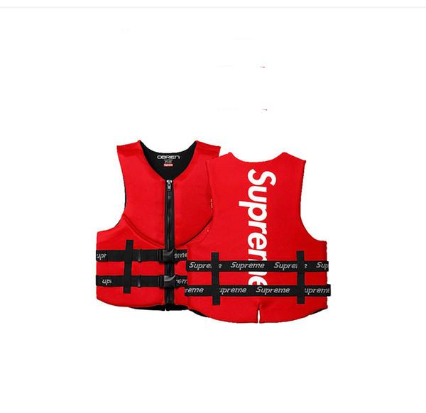 Estate clone giubbotto di salvataggio rosso e boa galleggiamento giubbotto salvagente protezione gilet estate per il nuoto pesca rafting surf