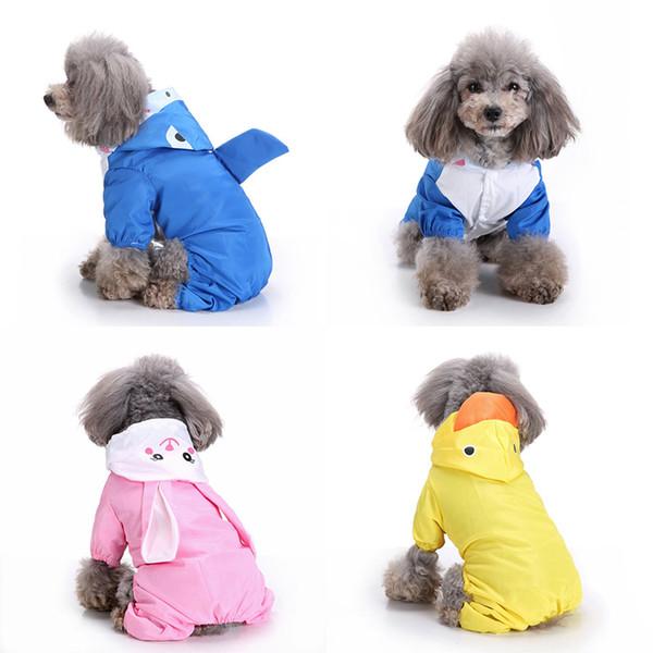 Cartoon Dog Raincoat For Dogs Clothes Waterproof Pet Overalls For Dogs Rain Coat Pet Jumpsuit Rainproof Small Medium Dog Slicker Wholesale