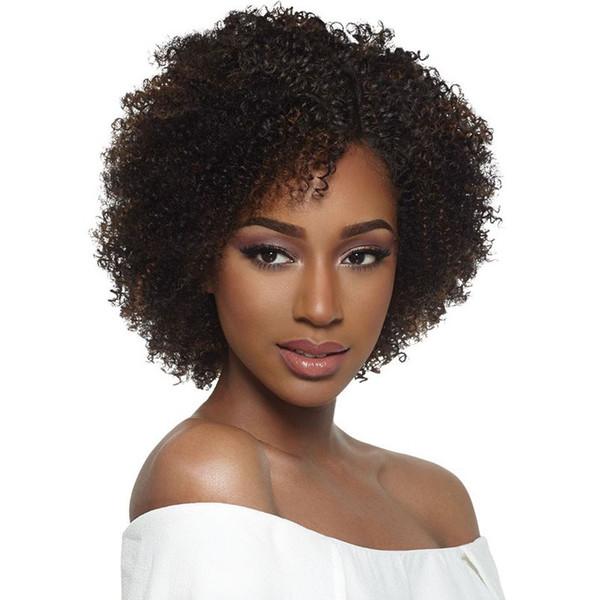 Nuove donne di alta qualità brasiliana capelli afro-americani ricci crespi parrucca simulazione capelli umani afro breve parrucca riccia per la signora in stoc