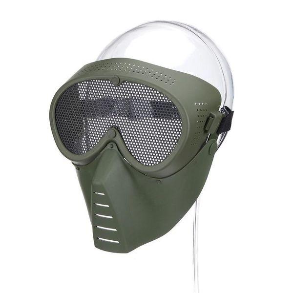 Maschera Airsoft Mezza Faccia Metal Steel Net Mesh Mask Caccia Tactical Outdoor CS protettivo Party Halloween Half Ciclismo Maschera K427