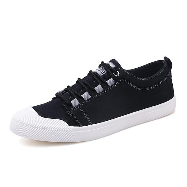 Fashionale Erkek Kanvas Ayakkabılar Rahat Dantel Kadar Hafif Zapatillas Hombre Rahat Tuval Erkek Ayakkabı Chaussure Homme