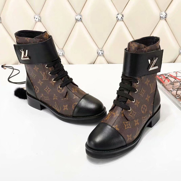 top popular 2019 wild Martin boots women fashion wild High Quality winter boots Patent leather Waterproof Motorcycle boots Factory direct sales 35-40 2020