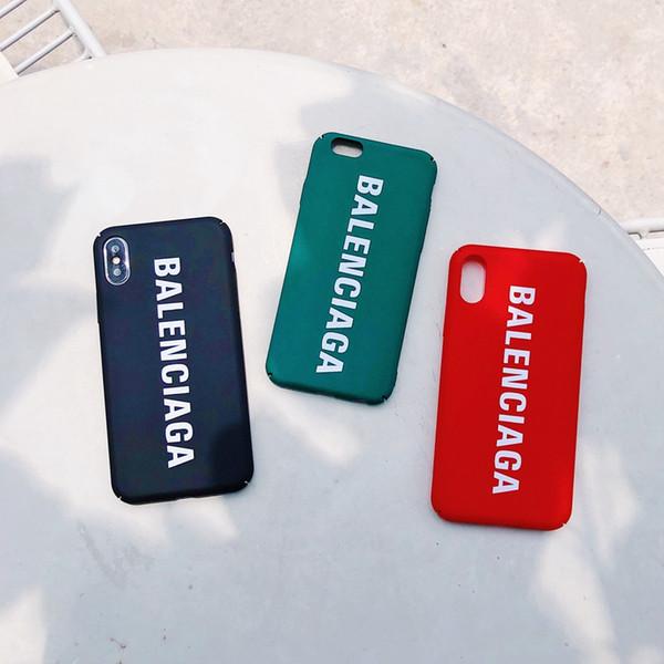 Cas de téléphone en plastique chaud de marque supérieure dure de la mode PC pour iPhone 6 6s 7 8 8plus XR X couverture arrière pour iphone x xr 7plus xs max coque